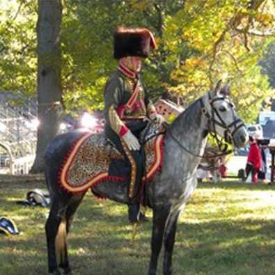 Chef d'escadron of the 7e Hussards, summer campaign dress