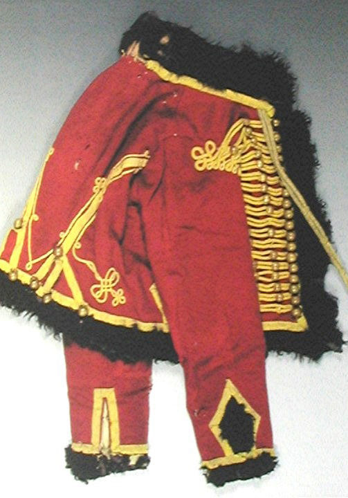 Surviving Pelisse worn by a trooper of the 4e Hussards, 1804-1812