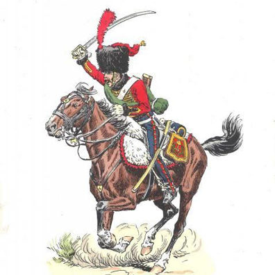 Elite Company of the 4e Hussards, winter campaign dress (1804 – 1812)